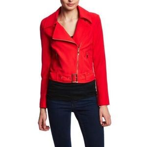 LUCY PARIS Long Sleeve Cropped Moto Jacket